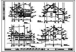 别墅设计_某二层独立别墅全套建筑施工cad图,含二十七套设计-图二