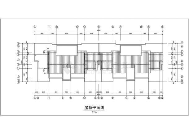 绍兴市安锦嘉园小区7层砖混结构住宅楼平剖面设计CAD图纸-图一