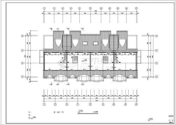 成都某工厂2层砖混结构职工宿舍楼建筑设计CAD图纸(含坡屋顶/2套方案)-图二