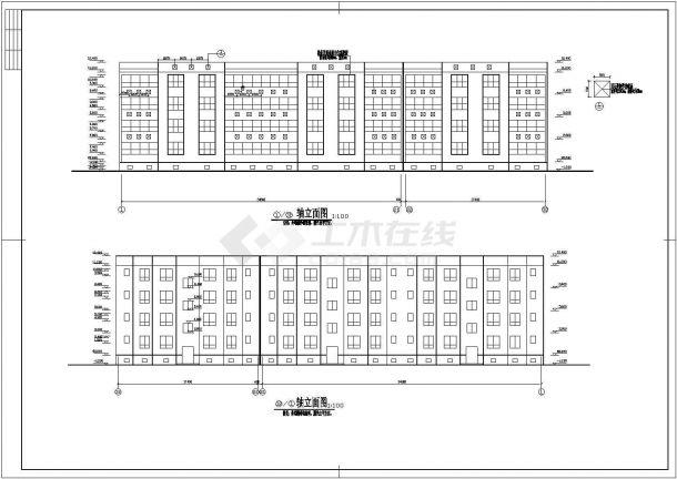 太原市迎春花园小区1700平米4层砖混结构住宅楼建筑设计CAD图纸-图一