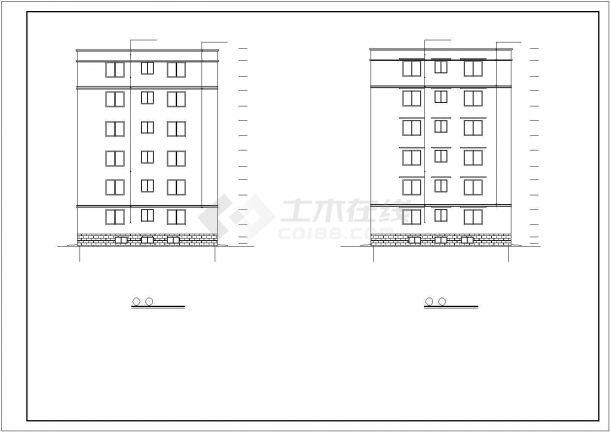 广州市某小区4700平米6层砖混结构住宅楼建筑设计CAD图纸(含自行车库)-图一