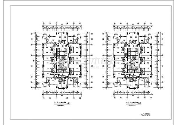 某酒店建筑全套CAD施工图设计-图一
