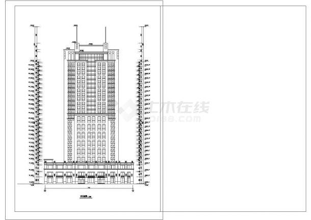 某酒店建筑全套CAD施工图设计-图二