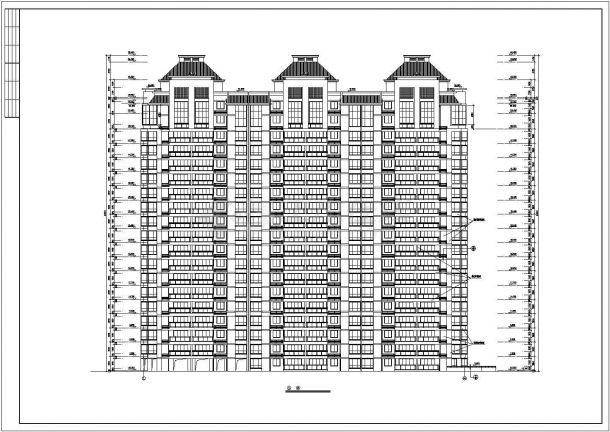 18层框架结构住宅楼平立剖面设计CAD图纸设计CAD图纸(含架空层)-图一
