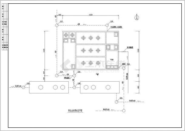某小区中水处理工程设计cad全套工艺施工图纸-图一