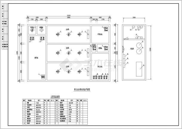 某小区中水处理工程设计cad全套工艺施工图纸-图二