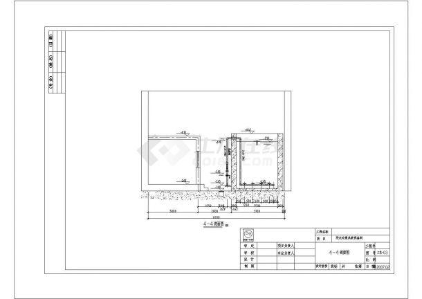 [北京]某体育馆网球中心污水处理系统设计cad全套施工图纸-图一