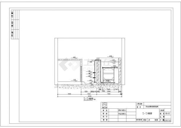 [北京]某体育馆网球中心污水处理系统设计cad全套施工图纸-图二