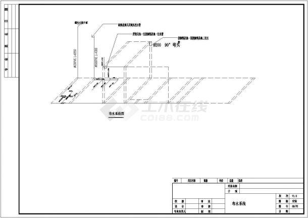 某农村生活污水处理工程设计cad全套工艺施工图-图一