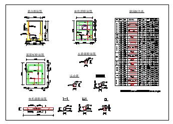 信丰某排灌站设计cad施工图纸-图二