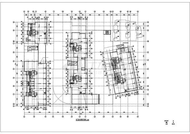 某安置房工程地下自行库库夹层 暖通设计图-图一