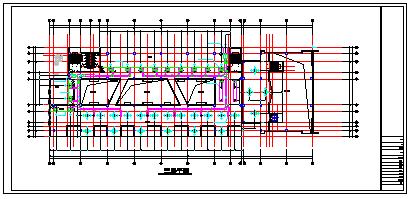[浙江]某服饰多联机系统cad平面施工设计图-图一