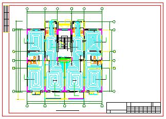 北方某多层住宅楼地暖系统cad施工设计图-图二