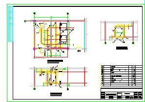 某住宅建筑人防地下室暖通cad设计图纸-图一