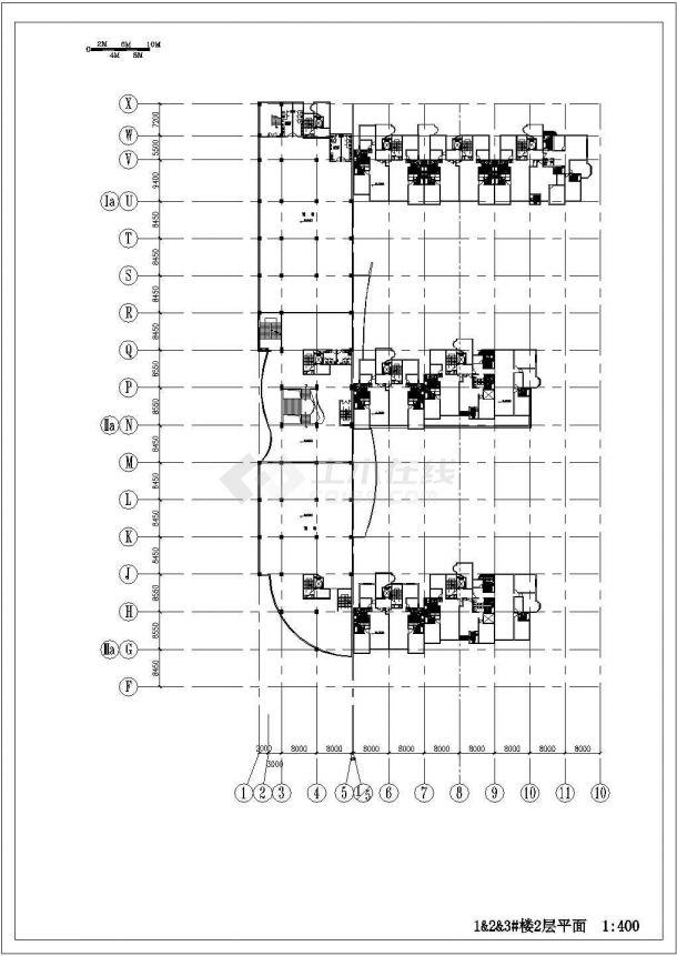 高层住宅小区建筑设计施工CAD图-图二