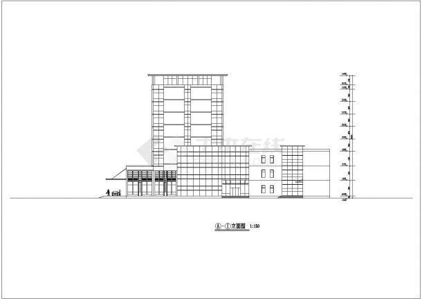 酒店CAD建筑方案设计图-图二