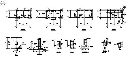 点理化室设计_单层钢筋混凝土框架结构铜钼矿生产点理化室结构施工cad图纸-图一