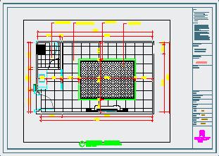霍邱鼎红尊荣会室内装饰工程施工图纸-图一