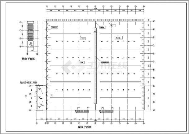 某地大型钢结构厂房设计图-图二
