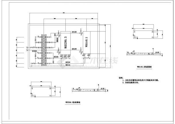 某工程吊顶空调机及风口接管cad施工大样图-图二