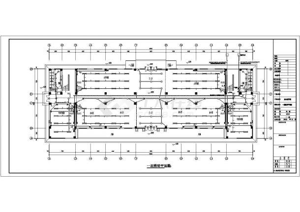 [四川]职业技术学校综合教学楼全套电气施工设计图纸-图一