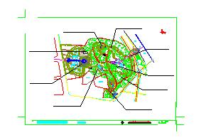 新昌鼓山公园景观设计CAD施工图-图二