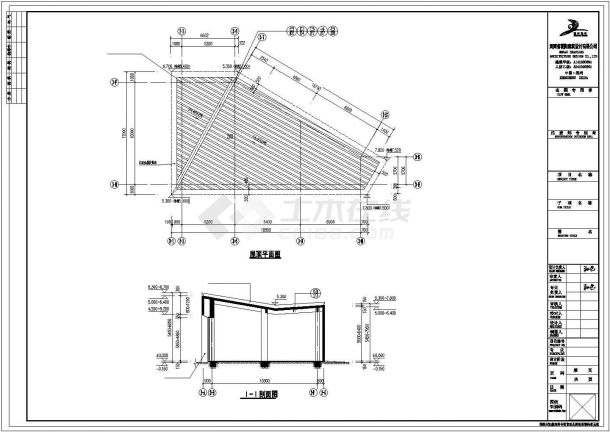 呼和浩特市某160平米单层框架结构商业楼建筑设计CAD图纸-图一