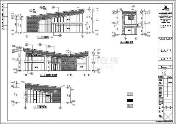 呼和浩特市某160平米单层框架结构商业楼建筑设计CAD图纸-图二