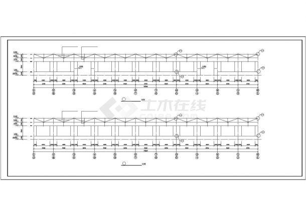 【最新】某轻型钢结构厂房设计方案CAD图纸-图二