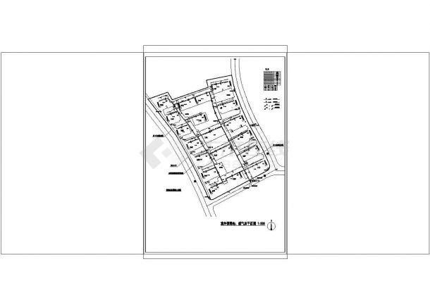 [江苏]高档小区室外管网工程给排水施工图纸-图二