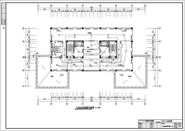 某大学大型图书馆电气设计图纸全套-图一