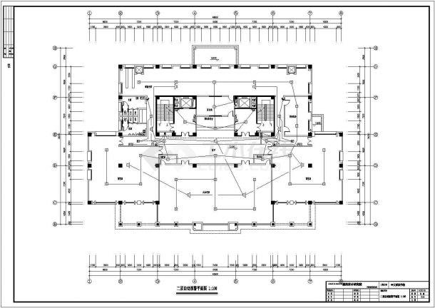 某大学大型图书馆电气设计图纸全套-图二