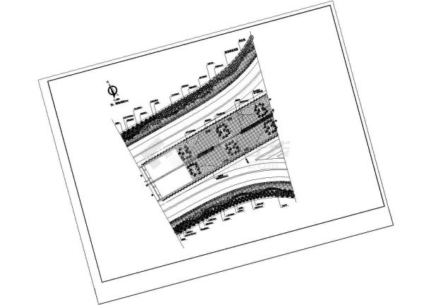典型道路绿化设计施工图-图一