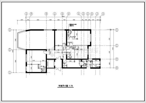 【苏州】某高档住宅某精装修全套施工设计cad图纸-图二