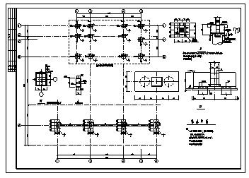 加油站设计_某地上一层现浇钢筋混凝土框架结构加油站结构施工cad图纸-图一