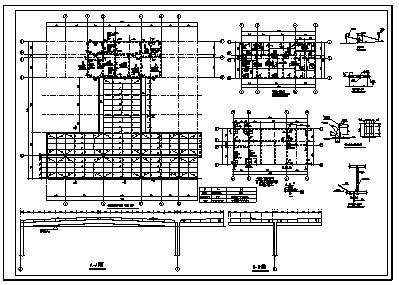 加油站设计_某地上一层现浇钢筋混凝土框架结构加油站结构施工cad图纸-图二
