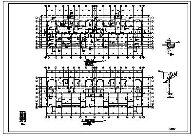 某七层带阁楼钢筋混凝土异形柱框架结构住宅楼结构施工cad图_住宅楼施工-图一