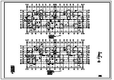 某七层带阁楼钢筋混凝土异形柱框架结构住宅楼结构施工cad图_住宅楼施工-图二