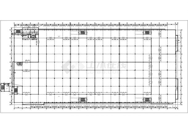长213.47米 宽100.74米 2层40560平米钢筋混凝土结构食品加工生产车间cad建施图-图二