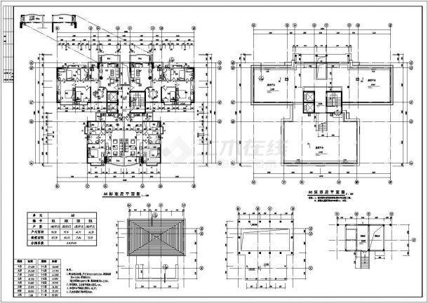 南方某高层住宅小区全套建筑施工cad图(A栋1)-图一