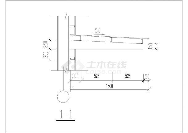 经典檐口、檐沟、天沟及雨棚设计CAD施工大样图-图一