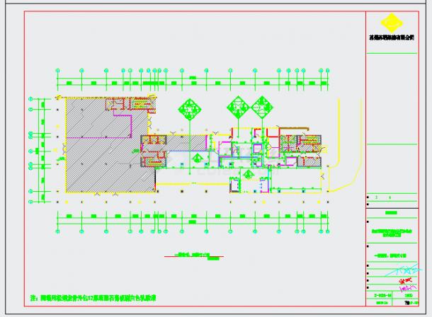 中国邮政储蓄银行办公室内装饰设计CAD图-图二