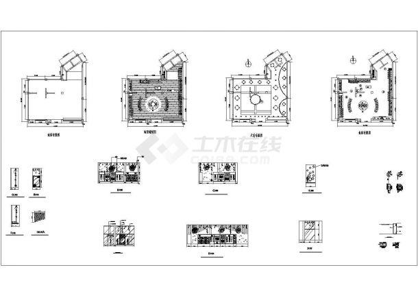 某蝶恋花商铺CAD室内装修设计施工图-图一