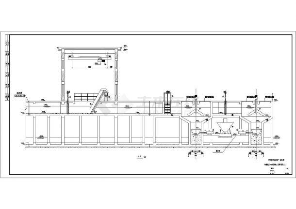 某市污水处理厂工艺设计cad全套施工图纸-图二