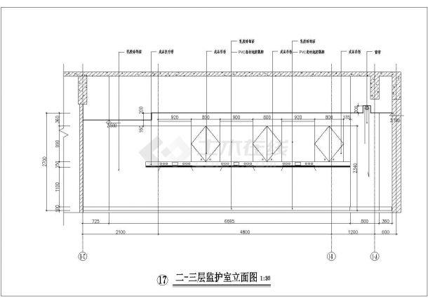大医院装修施工设计方案CAD图-图一