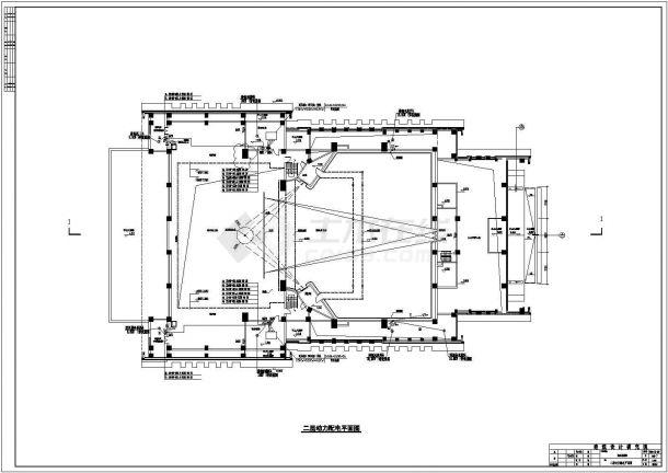 [甘肃]某多层影剧院全套强弱电系统施工设计cad图纸-图二