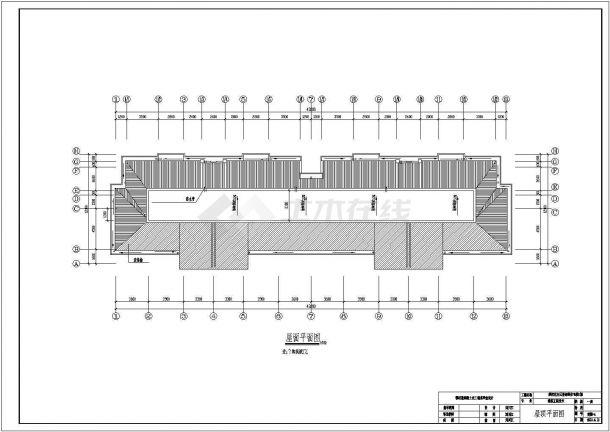 【5层】5200平米砖混住宅毕业设计CAD图纸((含计算书、施工组织设计,建筑结构设计图)-图一