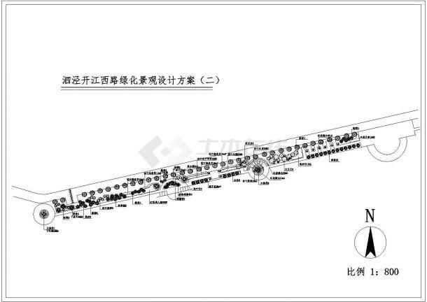 详图设计_道路景观绿化设计图-图一
