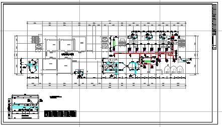 [湖北]多层门诊住院楼空调通风及防排烟系统cad施工图(大院出品)-图一