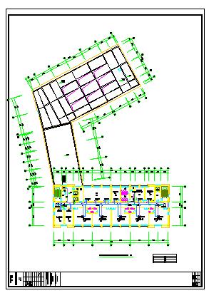 [江苏]高层防疫大楼空调通风及防排烟系统cad施工图(节能设计)-图一